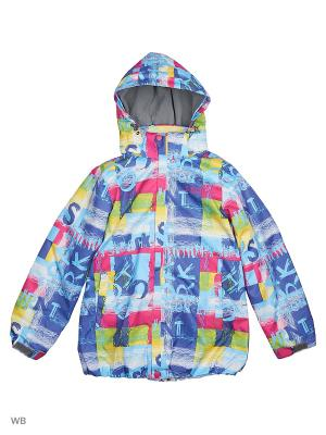 Куртка High Experience. Цвет: синий, лиловый, желтый