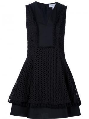 Платье с вышивкой Derek Lam 10 Crosby. Цвет: чёрный