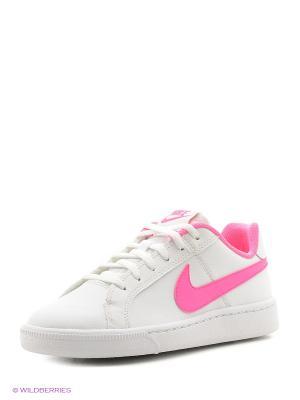 Кеды NIKE COURT ROYALE (GS). Цвет: белый, розовый