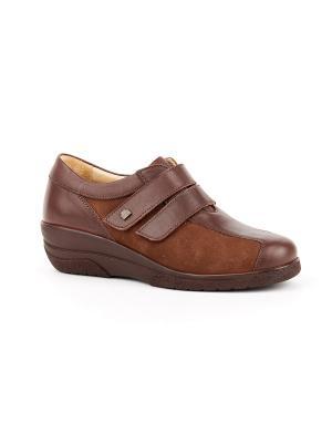 Ботинки ортопедические GELD. Цвет: коричневый