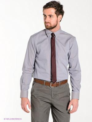 Рубашка TOM FARR. Цвет: серо-голубой, коричневый
