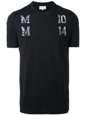 Декорированная футболка Maison Margiela. Цвет: чёрный