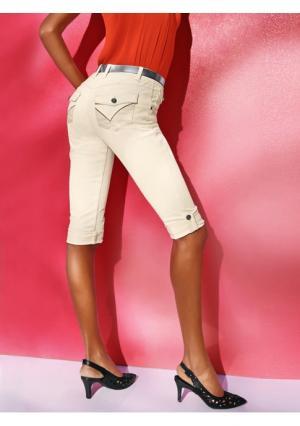 Моделирующие джинсы-капри Class International. Цвет: аква, молочно-белый, синий потертый, темный потертый, черный, ягодный