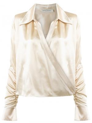 Silk shirt Martha Medeiros. Цвет: телесный