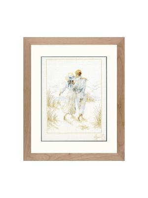 Набор для вышивания Romantisch paar /Романтичная пара/ 29*39см Vervaco. Цвет: белый, голубой, коричневый