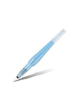 Кисть с резервуаром Aguash Brush средняя Pentel. Цвет: фиолетовый, белый, прозрачный