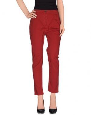 Повседневные брюки NOVEMB3R. Цвет: красный