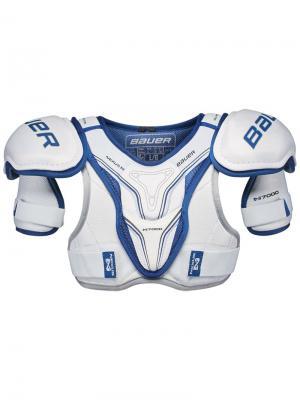 Защита плеч BAUER NEXUS N7000 Юниорская. Цвет: белый, темно-синий, черный