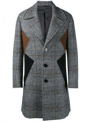 Пальто с панельным дизайном Neil Barrett. Цвет: коричневый