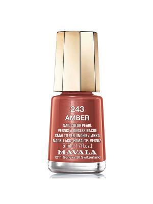 Лак для ногтей тон 243 Amber Mavala. Цвет: коричневый