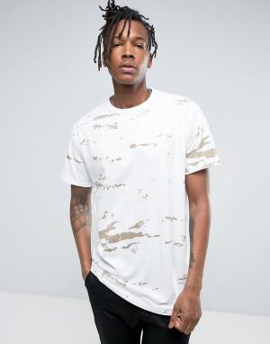 Maharishi Камуфляжная футболка. Цвет: белый