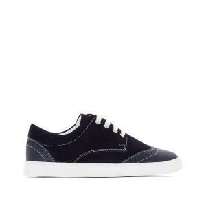 Ботинки-дерби кожаные на шнуровке La Redoute Collections. Цвет: темно-бежевый,темно-синий
