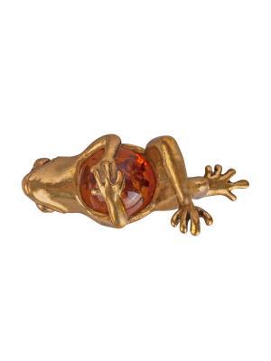 Фигура Лягушка сытая Aztek. Цвет: желтый, коричневый, светло-оранжевый