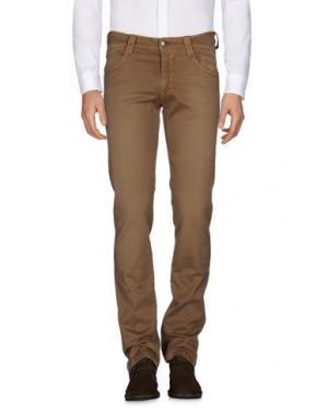 Повседневные брюки CARLO CHIONNA. Цвет: хаки