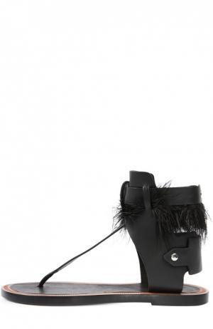 Кожаные сандалии с декором Isabel Marant. Цвет: черный