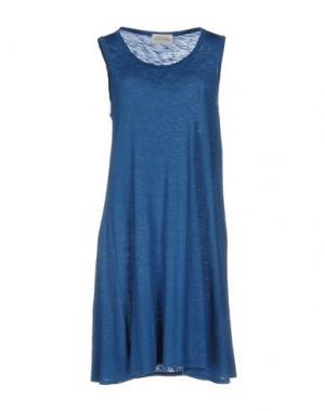 Короткое платье AMERICAN VINTAGE. Цвет: грифельно-синий