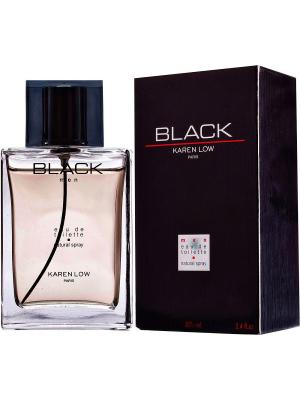Туалетная вода Black for men  Линии KAREN LOW GEPARLYS. Цвет: золотистый