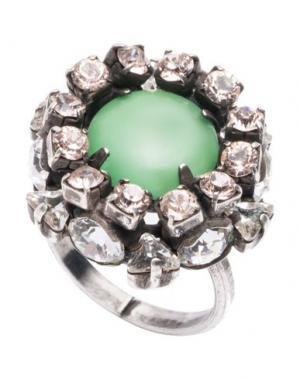 Кольцо DANNIJO. Цвет: зеленый