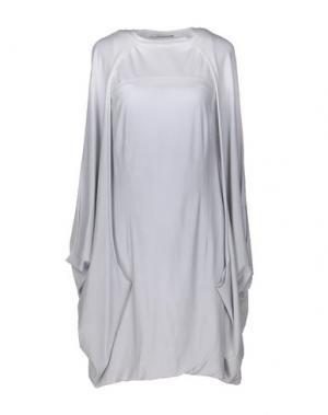 Короткое платье OBLIQUE CREATIONS. Цвет: серый