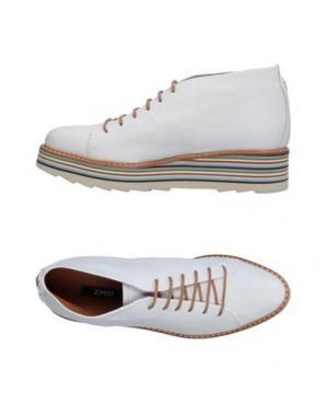 Полусапоги и высокие ботинки ZINDA. Цвет: белый