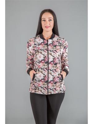 Толстовка женская НАТАЛИКА. Цвет: черный, бежевый, розовый