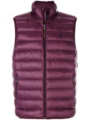 Стеганый жилет Polo Ralph Lauren. Цвет: розовый и фиолетовый