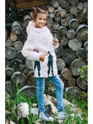 Пальто DUWALI. Цвет: бледно-розовый