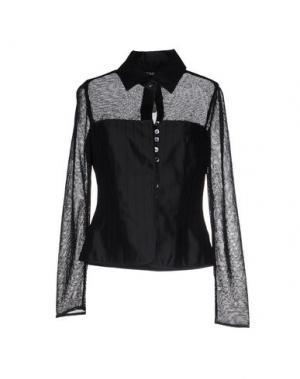 Pубашка TOMASO. Цвет: черный