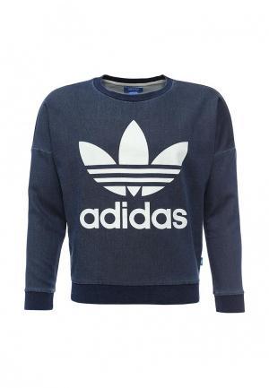 Свитшот adidas Originals. Цвет: синий