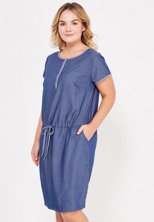 Платье джинсовое Фэст. Цвет: синий