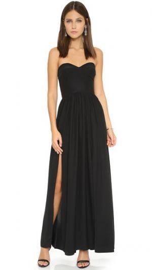 Вечернее платье Gisele Amanda Uprichard. Цвет: голубой
