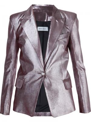 Блейзер с эффектом металлик Beau Souci. Цвет: розовый и фиолетовый