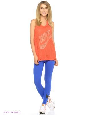 Леггинсы W NSW LGGNG CLUB LOGO2 Nike. Цвет: светло-голубой