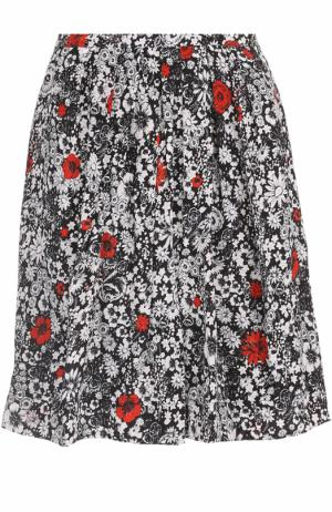 Мини-юбка с цветочным принтом и карманами Zadig&Voltaire. Цвет: разноцветный