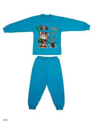 Пижамы KIDONLY. Цвет: бирюзовый, оранжевый