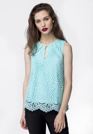 Блуза Vilatte. Цвет: бирюзовый