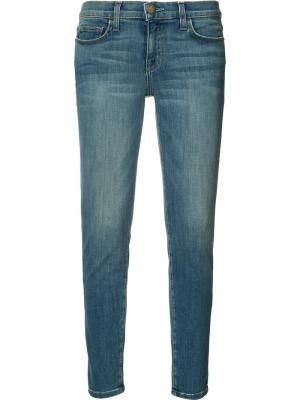 Укороченные джинсы кроя скинни Current/Elliott. Цвет: синий