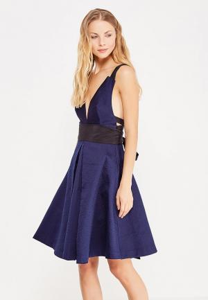 Платье LOST INK. Цвет: синий