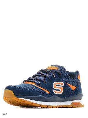 Кроссовки SKECHERS. Цвет: оранжевый, синий