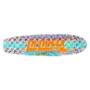 Дека для скейтборда лонгборда  Zinger Holo 30.35 x 7.5 (19.1 см) Krooked. Цвет: серый