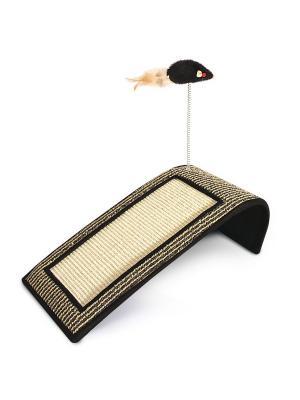 Когтеточка Горка с игрушкой, 500*220*160мм. TRIOL. Цвет: светло-коричневый
