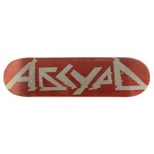 Дека для скейтборда  Logo 3 Red 31.75 x 8.25 (21 см) Absurd. Цвет: красный