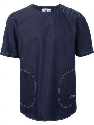 Джинсовая рубашка Education From Youngmachines. Цвет: синий