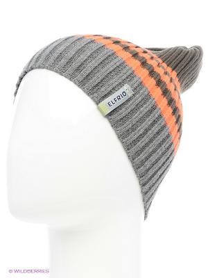 Шапка ELFRIO. Цвет: темно-серый, хаки, оранжевый
