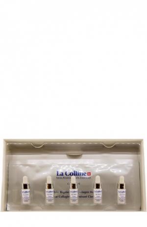 Отбеливающая и восстанавливающая коллагеновая маска (5 масок+5 сывороток) La Colline. Цвет: бесцветный
