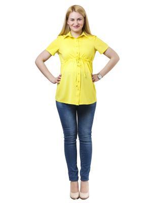 Блузка 9месяцев 9дней. Цвет: желтый