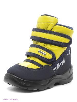 Ботинки Skandia. Цвет: желтый