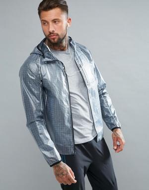 Saucony Серая спортивная куртка Running Exo SAM800015-FSP. Цвет: серый