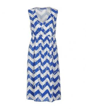 Платье до колена ANONYME DESIGNERS. Цвет: синий