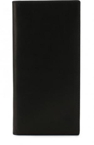 Кожаный футляр для документов с отделениями кредитных карт Ann Demeulemeester. Цвет: черный